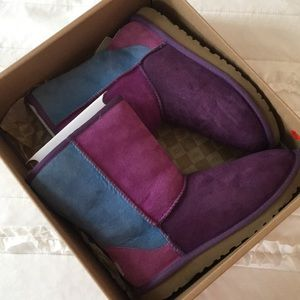 UGG K Classic Patchwork Boots